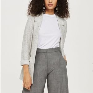 Topshop Jersey Boucle Jacket Sweater